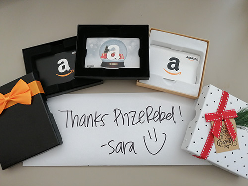 Thanks PrizeRebel! -Sara