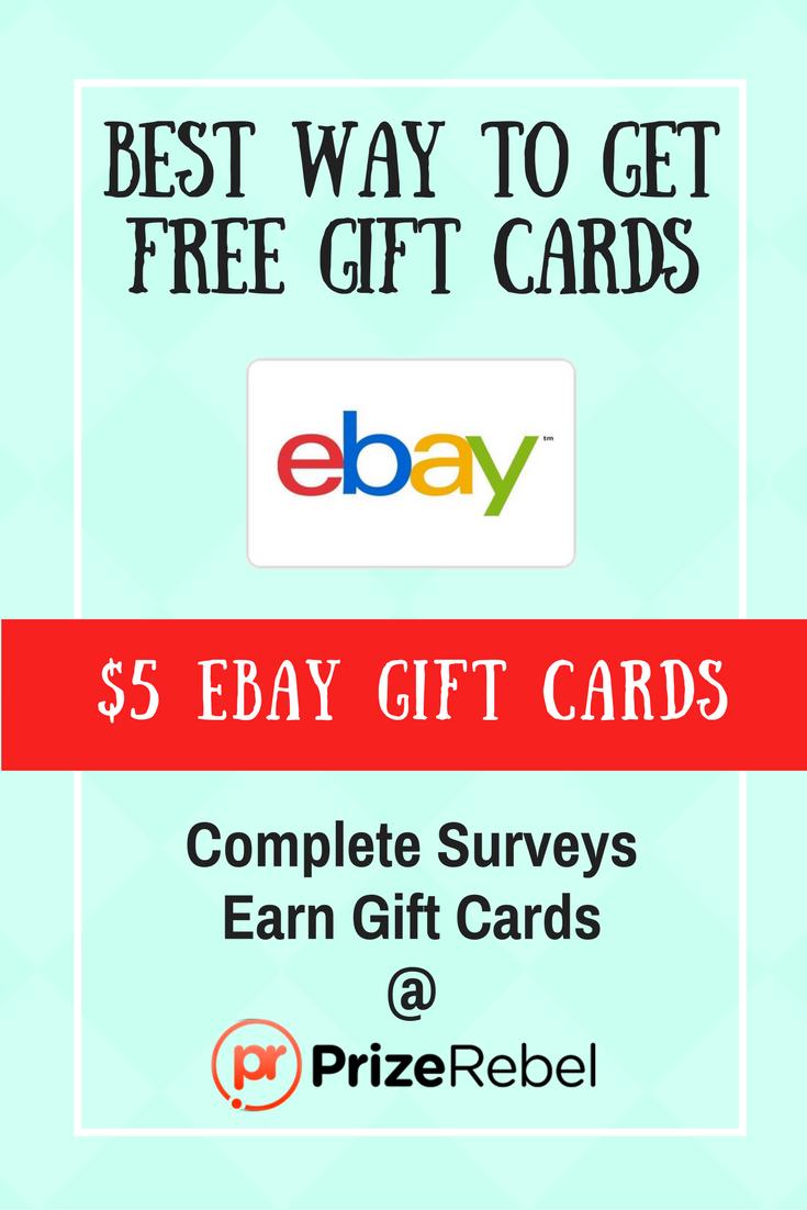 free ebay gift card prizerebel. Black Bedroom Furniture Sets. Home Design Ideas