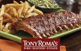 $5 Tony Roma s Gift Card