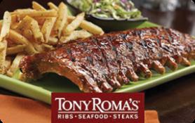 $5 Tony Roma's Gift Card