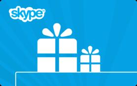 $10 Skype Credit Gift Card