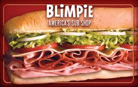 $5 Blimpie Gift Card