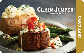 $20 Claim Jumper Restaurant & Saloon® Gift Card