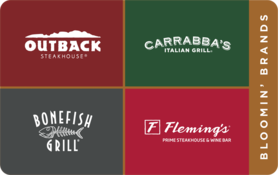 $25 Bloomin  Brands Gift Card