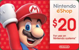$20 Nintendo eShop Gift Card