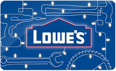 $10 Lowes Gift Card