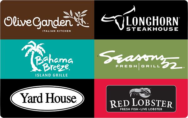 Darden Restaurants Gift Card | PrizeRebel