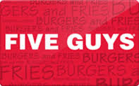 $5 Five Guys Gift Card - Emailed